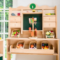 Children's Shop with traditional wooden pieces